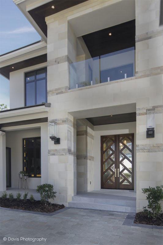 contemporary custom front door design