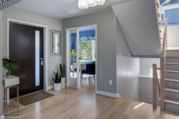 dark colored contemporary front door