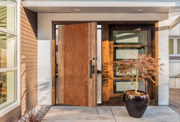 wood design contemporary exterior door