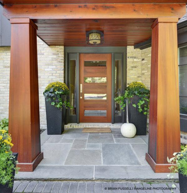contemporary wood front door design