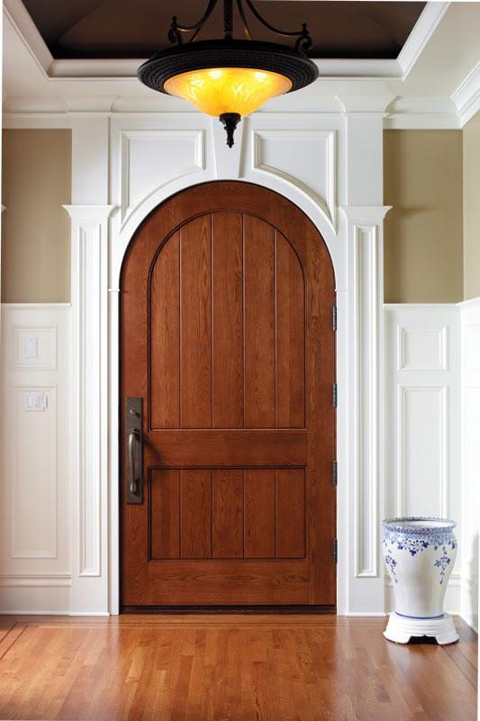 Custom Arched Oak Door