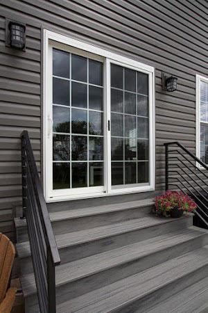 Glass door home entrance