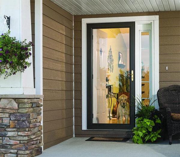 full view glass door