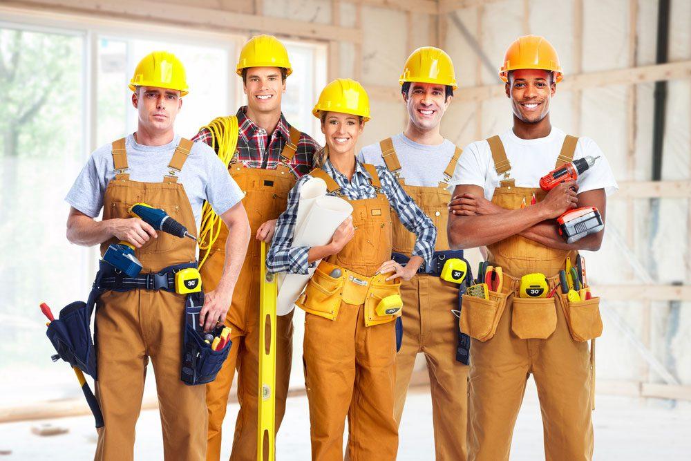 group of repair people